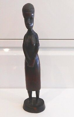 Antique Well Carved African Tribal Wooden Female Figure