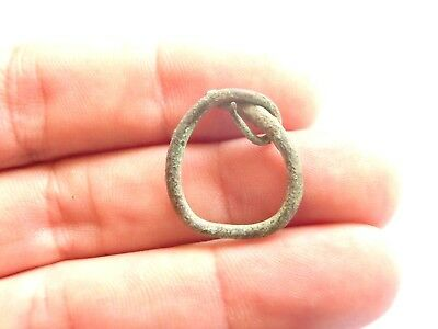 Scarce IRON AGE Hallstatt Culture ANCIENT Celtic Bronze EARRING > 700 BC
