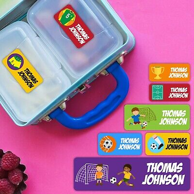 Soccer Series Personalised Name Label for Kids, dishwashable, microwaveable