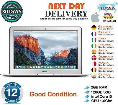 "Apple MacBook Air 11.6"" Intel Core i5 2GB RAM 128GB SSD Mid 2011 Good Condition"