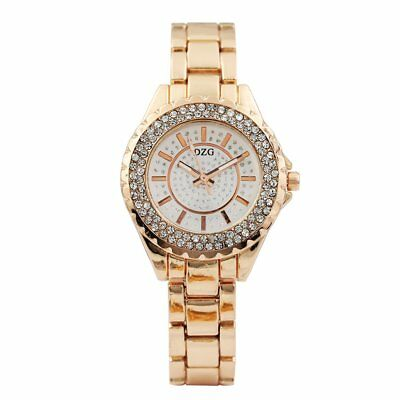 Trendy Double Row Full Drill Studs Ladies Watch GD112 Round Dial Quartz Watch UB
