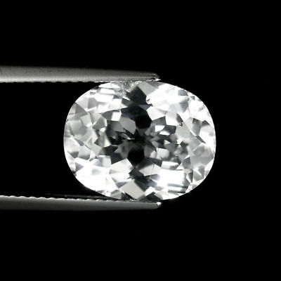 2.40 Cts NATURAL WHITE COLORLESS TOPAZ OVAL CUT LOOSE GEMSTONES. 602 SR
