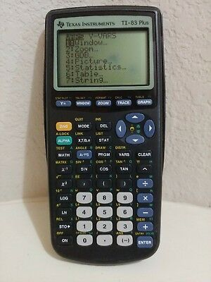 Texas Instruments TI-83 Plus Graphing Calculator w/ Slide Cover Tested & Working