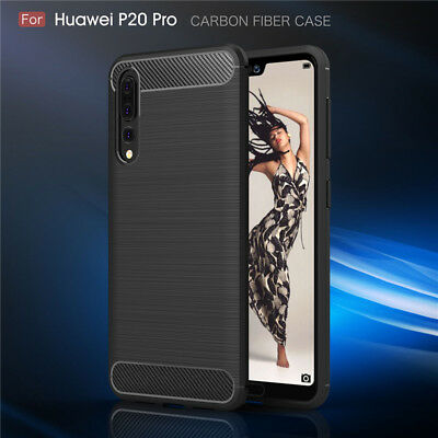 Shockproof Hybrid Carbon Fiber Heavy Duty Case Cover For Huawei P20 Pro