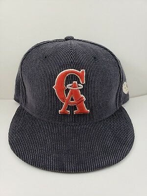 sports shoes 7b8cb 1c8e9 MLB Los Angeles Angels New ERA Cooperstown Corduroy 9Fifty Snapback Hat Cap