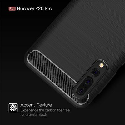 For Huawei P20 Pro Shockproof Hybrid Carbon Fiber Heavy Duty Case Cover