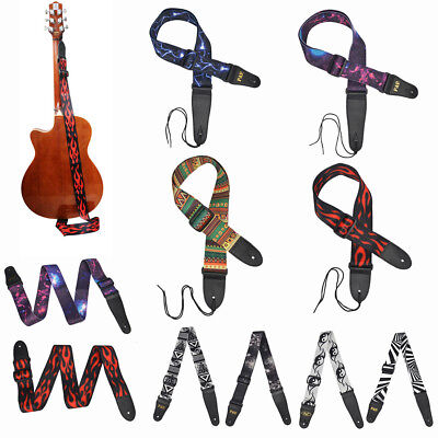 Adjustable Guitar Strap Webbing Leather Ends High Quality Choice Of Colours