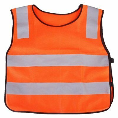 enfant fluorescence reflechissant gilet Orange M7Z6