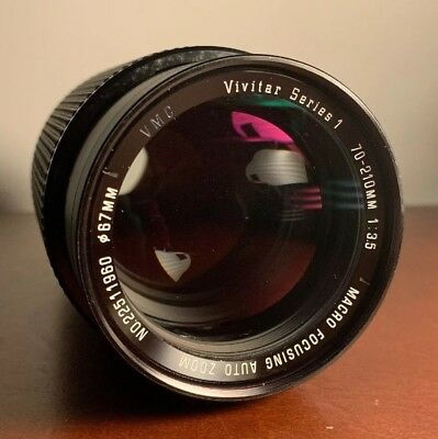 Vivitar Series 1 70-210mm 1:3.5 Macro Focusing Zoom Lens For Canon FD Mount