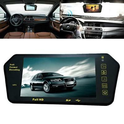 "7"" LCD TFT Color Screen Car Reverse Rear View DVD Mirror Monitor OF"