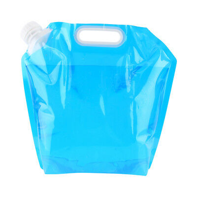 5L Folding Drinking Water Bucket Camping Hiking Water Container Storage Bag SP