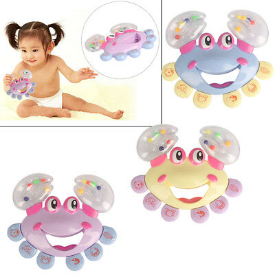 Baby Kids Baby Crab Design Handbell Musical Instrument Jingle Shaking Rattle Toy