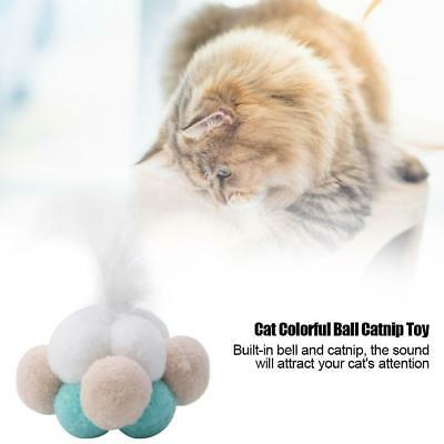 Funny Pet Kitten Cat Mint Ball Play Toys Catnip Interactive Feather Toy