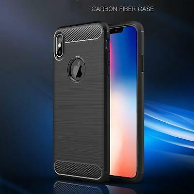 Shockproof Hybrid Carbon Fiber Heavy Duty Case Cover For Apple iPhone X / XS