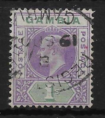 Gambia Sg52 1902 1/= Violet & Green Used