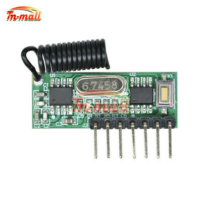 433MHz RF Wireless Module Receiver Remote Control 4Channel Learning Decoding