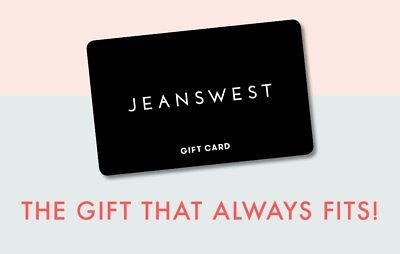 Jeans West $100 Gift Card (Unused, in date for 1 year)