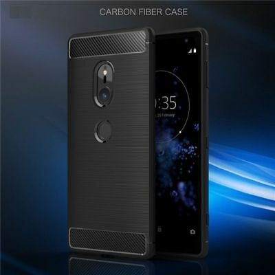 For Sony Xperia XZ2 Shockproof Hybrid Carbon Fiber Heavy Duty Case Cover