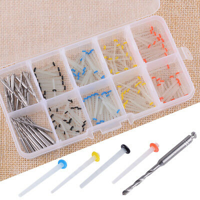 1 Box 160Pcs Dental Glass Fiber Post Single Refilled Package & 32Pcs Drills