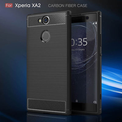 Carbon Fiber Hybrid Shockproof Heavy Duty Case Cover For Sony Xperia XA2