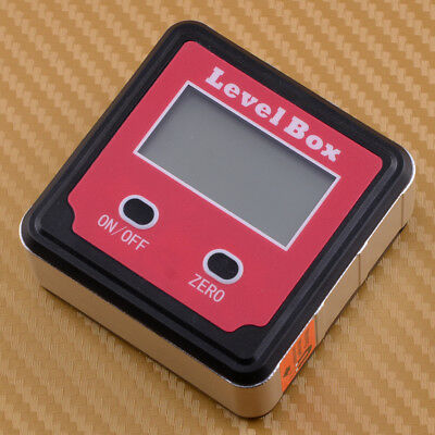 LCD Digital Inclinometer Level Box Protractor Angle Finder Gauge Meter Bevel