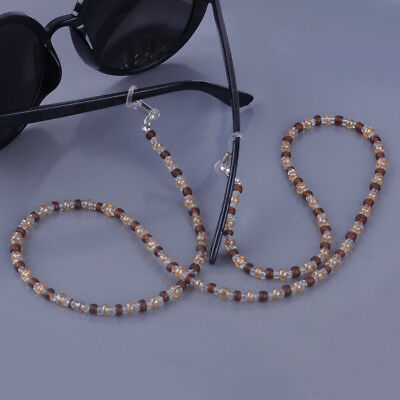 3PCS Beads Beaded Eyeglass Sunglasses Cord Lanyard Holder Rope Spectacles Chain