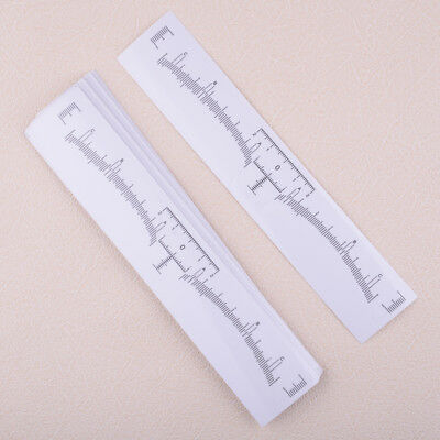 50Pcs Clear Disposable Eyebrow Ruler Stickers Tattoo Microblading Measure Tool