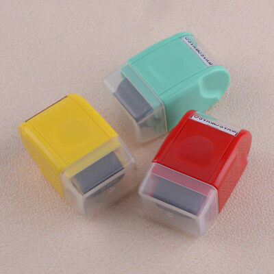 1Pcs SelfInking Roller Guard Your ID Stamp Stamp Messy Code Security Office