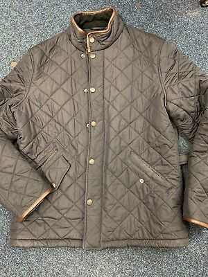 mens barbour quilted jacket Large Navy
