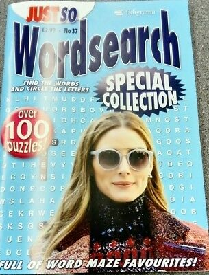EPIGRAMS Just So no 37 Wordsearch Special Edition. Over 100 puzzles