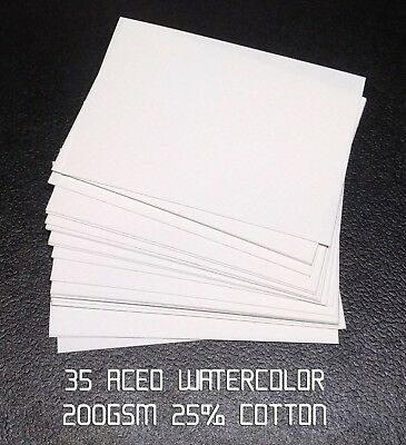 35 blank aceo watercolor paper 200 gsm 25% cotton