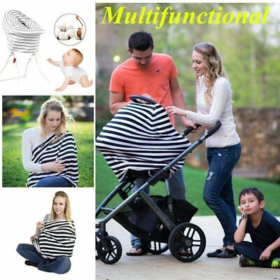 Multi Use Stretchy Newborn Infant Nursing Cover Baby Car Seat Canopy Cart Cov QK