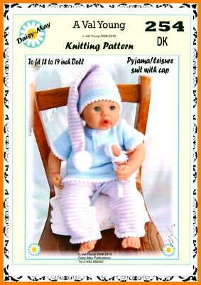 "DOLLS KNITTING PATTERN 17/""//18/"" for ANNABEL  doll No.312 by Daisy May"
