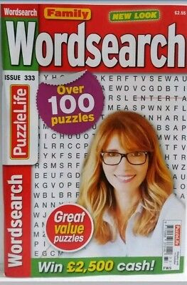 Wordsearch Family Wordsearch Puzzle Book Issue No333. Over 100 Puzzles. Free P&p