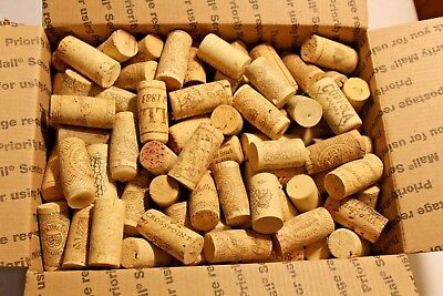 180+ Natural & Synthetic Used Wine Corks - For Art or Crafts - FREE SHIP