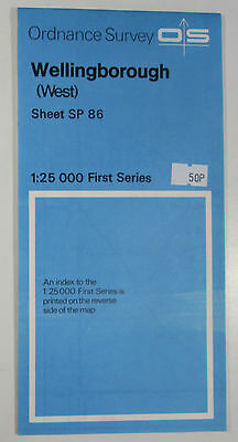 Old 1983 OS Ordnance Survey 1:25000 First Series Map SP 86 Wellingborough (West)