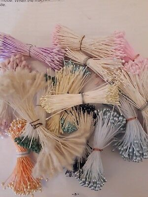 Job Lot Flower Making Stamens Double Ends