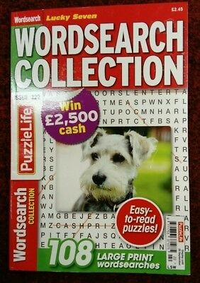 Wordsearch Collection Puzzle Book Issue No.222. 108 Puzzles. Large Print.