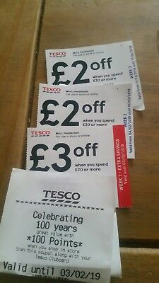 Tesco Vouchers £7 +100 Points
