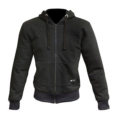 Merlin Hamlin Hoody Black Zip Up Hooded Armoured Motorcycle Jacket New