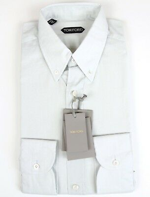 dae258a99c NEW TOM FORD Shirt Micro Check Button Down Collar Tailored Fit Size ...
