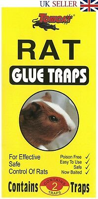 TomCat Big Size Rats, Mouse, Mice Rodent Super Strong Mats Sticky Glue 2 Traps