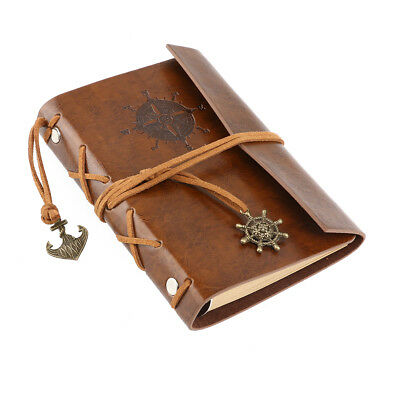 Retro Vintage Leather Journal Travel Notepad Notebook Brown Diary