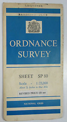 1963 old vintage OS Ordnance Survey 1:25000 First Series Map SP 80 Wendover