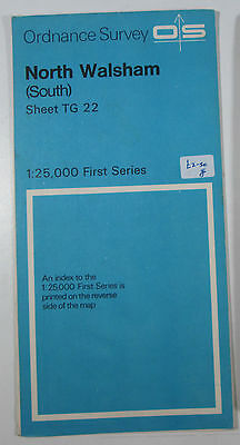1970 old OS Ordnance Survey 1:25000 First Series map TG 22 North Walsham (South)