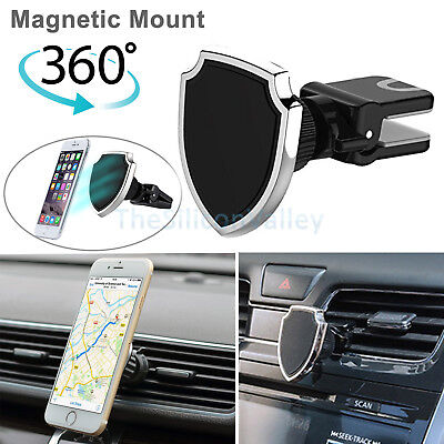 360° Universal Magnetic Car Air Vent Mount Holder Cradle For Cell Phone GPS AA