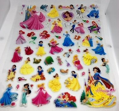 YH-014 3D PRINCESS Bubble Reward Sticker Decal Label Children Kid Teacher UK BN