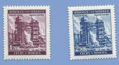 Nazi Germany Third Reich Nazi B&M Factory Stamp set MNH WW2 Era