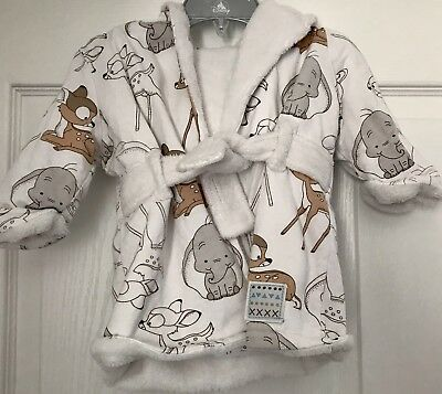Disney Bambi And Dumbo Baby Dressing Gown 6-9 Months