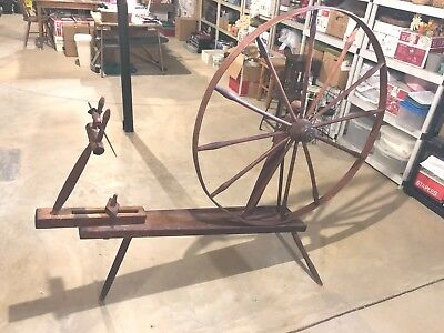 SPINNING WHEEL -Walking - Wooden - Antique - Local S.E.Pa.